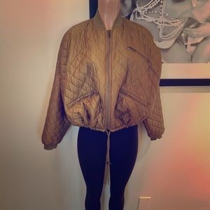 FREE PEOPLE   puffer jacket/bomber   S
